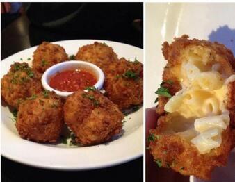 Deep Fried Mac N Cheese Bites
