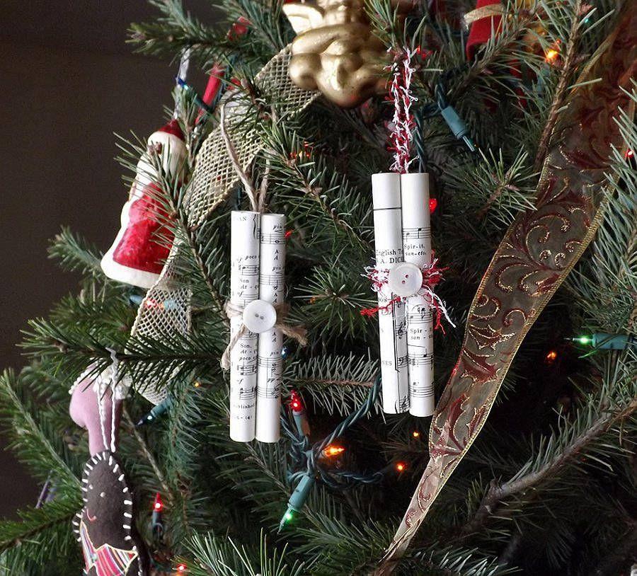 Sheet Music Scroll Ornaments 6 Christmas Tree Decorations Etsy Holiday Decor Christmas Ornaments Halloween Door Decorations