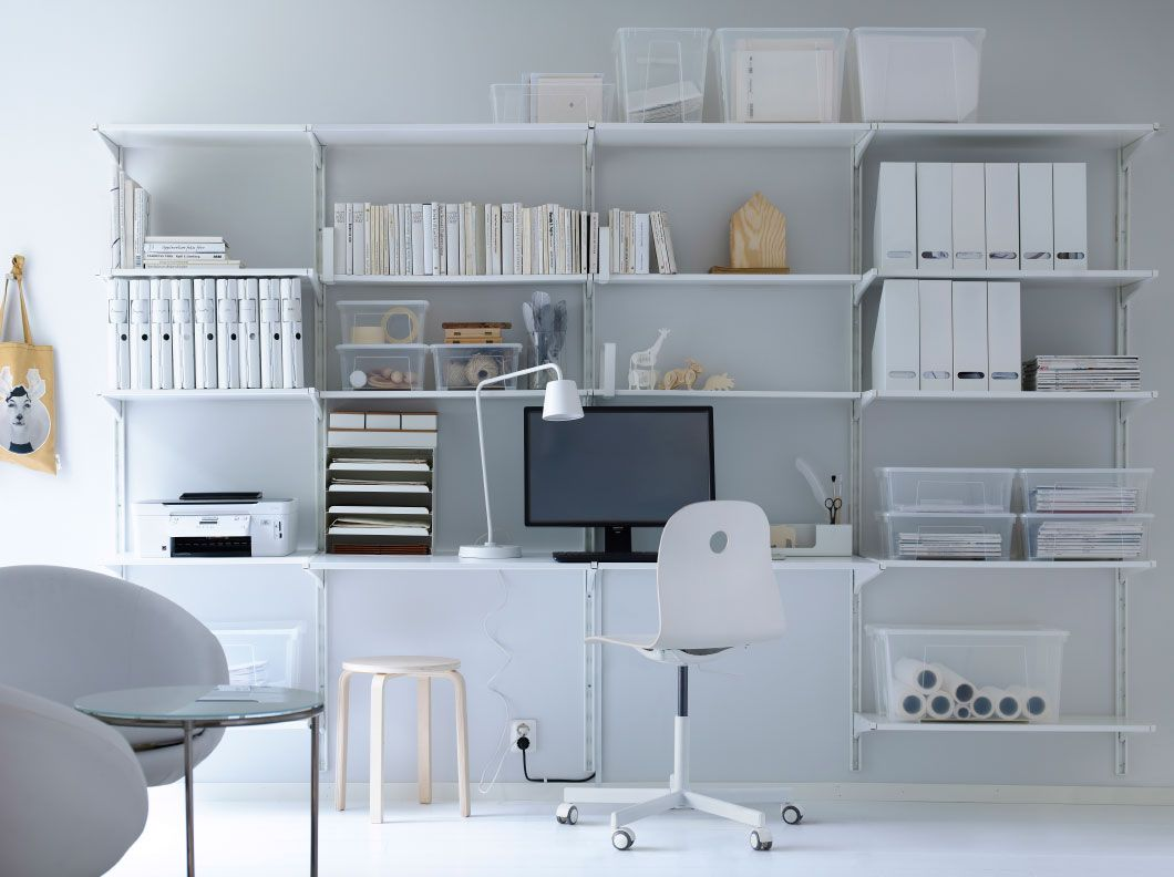 Ikea Wohnzimmer Aufbewahrung Algot Wall Upright Shelves White On Office Space