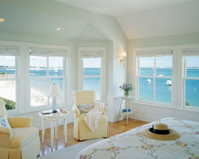 schlafzimmerw nde in hellblau streichen je mehr fenster desto gr z giger der eindruck wohnen. Black Bedroom Furniture Sets. Home Design Ideas
