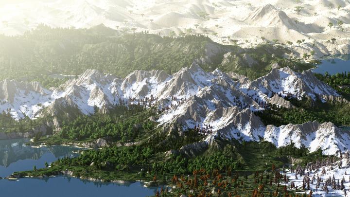Free Custom Terrain [4K] [World Machine / WorldPainter] Minecraft