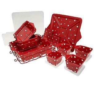 Temp Tations Polka Dot 13 Pc Everyday Oven To Table Set