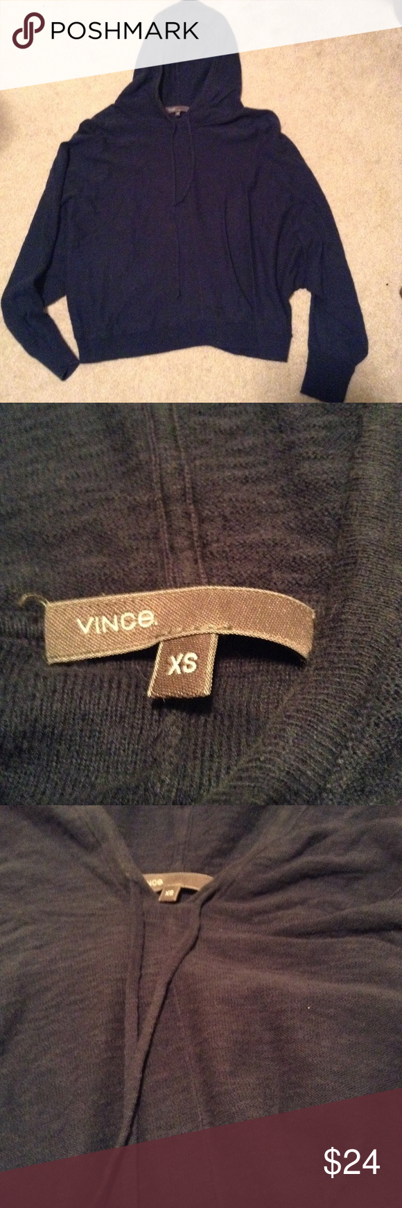 Vince lightweight sweater hoodie | Hoodie, Navy sweaters and Style