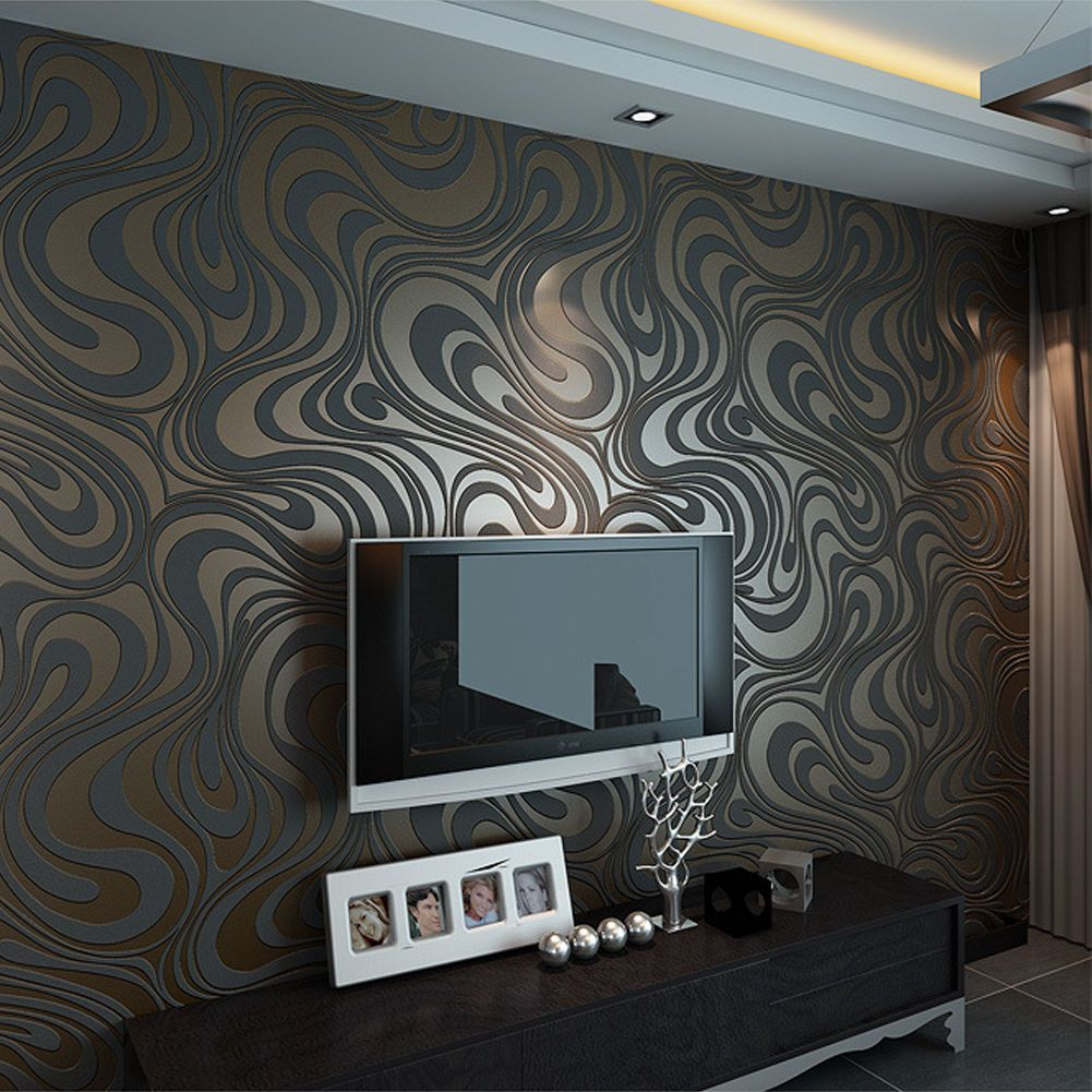 10m Modern Luxury Abstract Curve 3d Wallpaper Roll Mural P