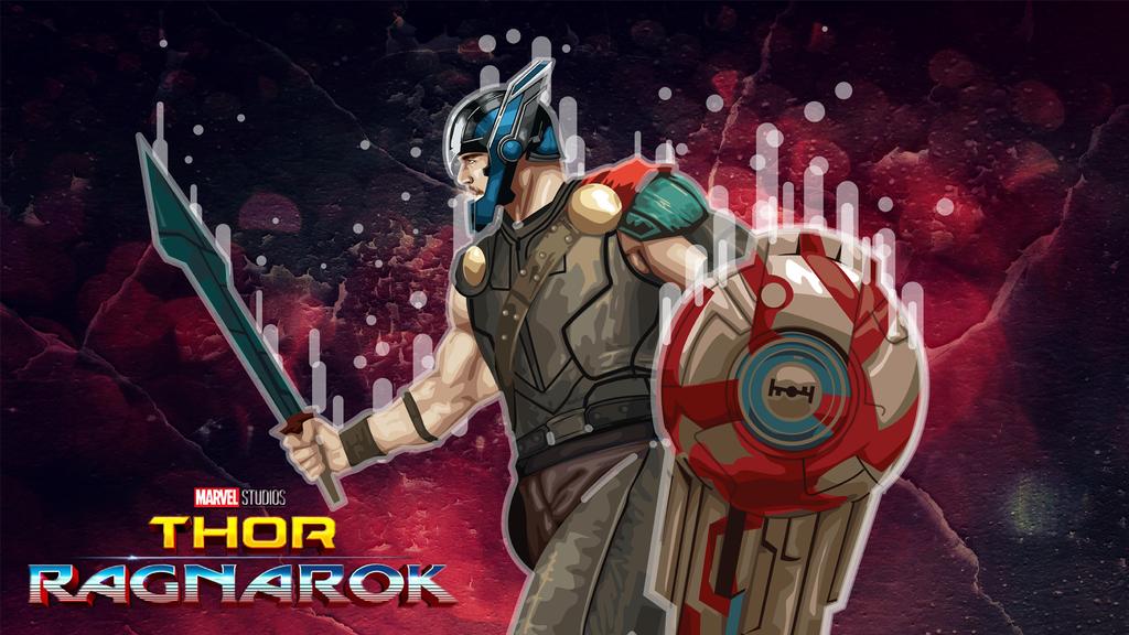 Thor Ragnarok Vector By Mjmagicdesign Deviantart Com On Deviantart Vector Thor Vector Art