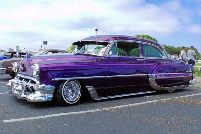 Purple 1954 CHEVY BEL AIR Lowrider