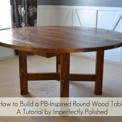 How To Make A Round Table {Pottery Barn Hack}