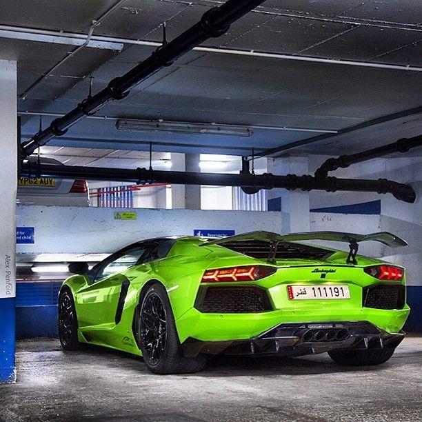 Luxury Car Lamborghini: Lamborghini Aventador In Lime Green #lamborghini
