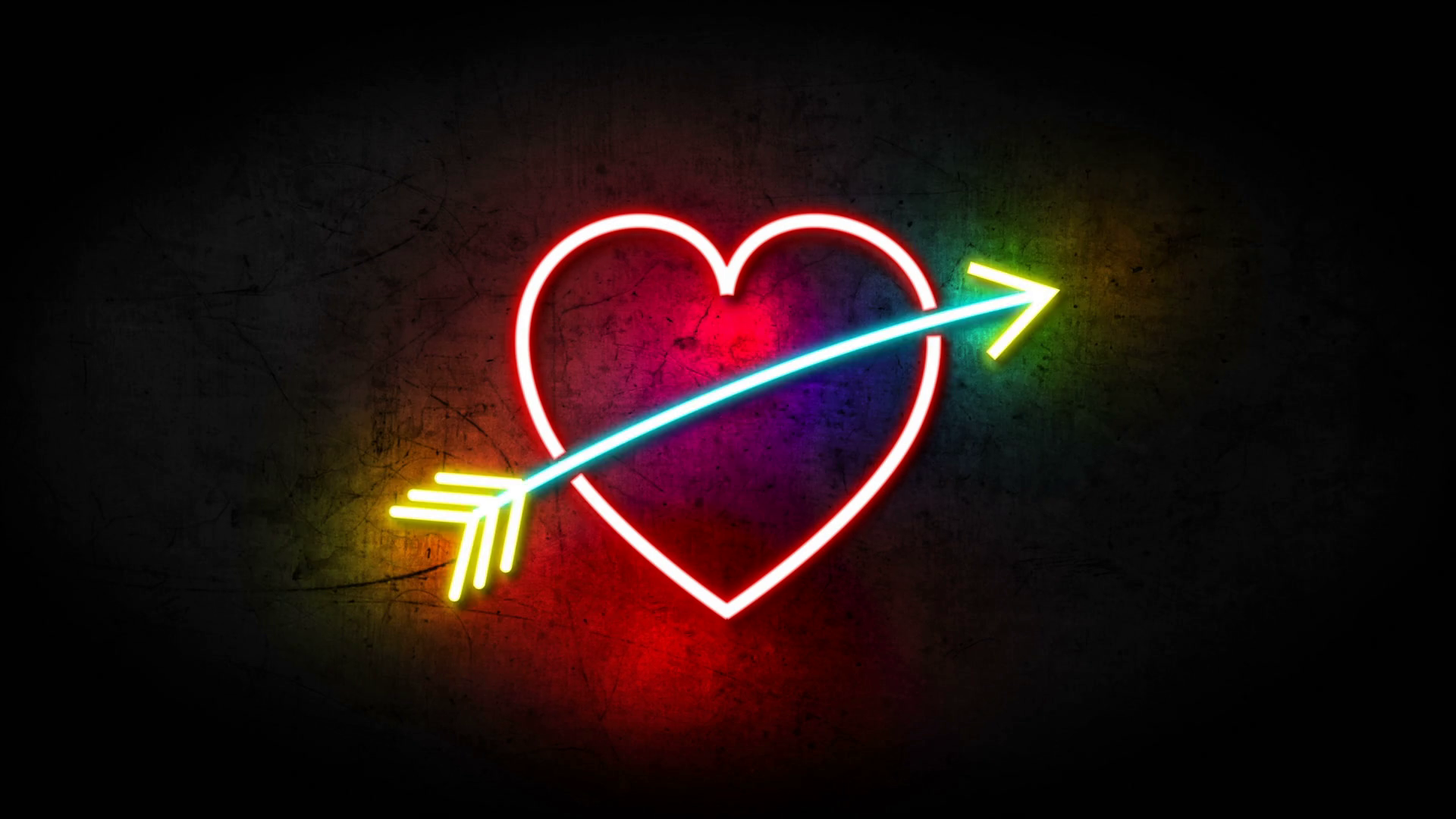 Pin By Mafe On Neon Quotes Heart With Arrow Love Neon Sign Valentines Day Background
