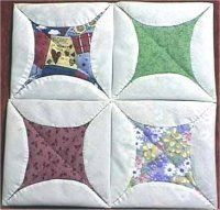 Faux Cathedral Window Quilt | Quilting | Pinterest | Cathedral ... : cathedral quilt block pattern - Adamdwight.com