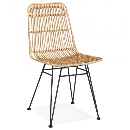 Tendance Et Design Decouvrez Cette Chaise En Rotin Existe Aussi En Noir En 2020 Chaise Design Chaise Rotin Chaise