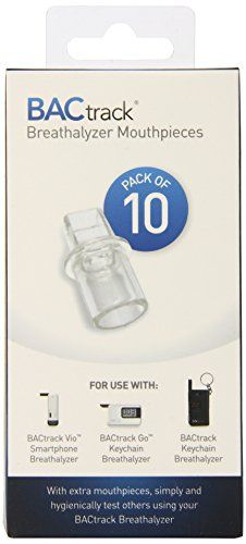 BACtrack Keychain Breathalyzer Mouthpieces (Pack of 10)