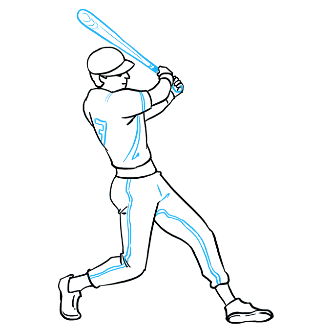 How To Draw A Baseball Player Really Easy Drawing Tutorial Baseball Players Drawing Tutorial Easy Easy Drawings