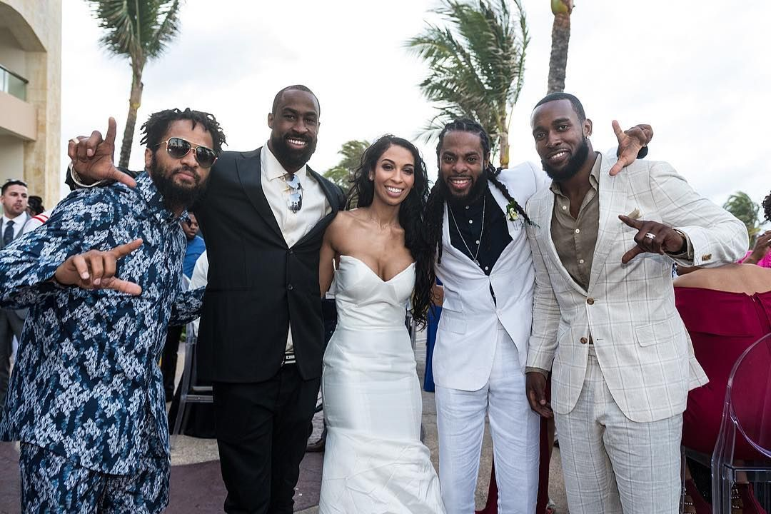 49ers Cornerback Richard Sherman Married His Girlfriend Ashley Moss In A Gorgeous Wedding At The Seattle Sports Seattle Seahawks Richard Sherman