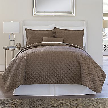 Royal Velvet 400tc Wrinkleguardtm Quilted Coverlet Home And