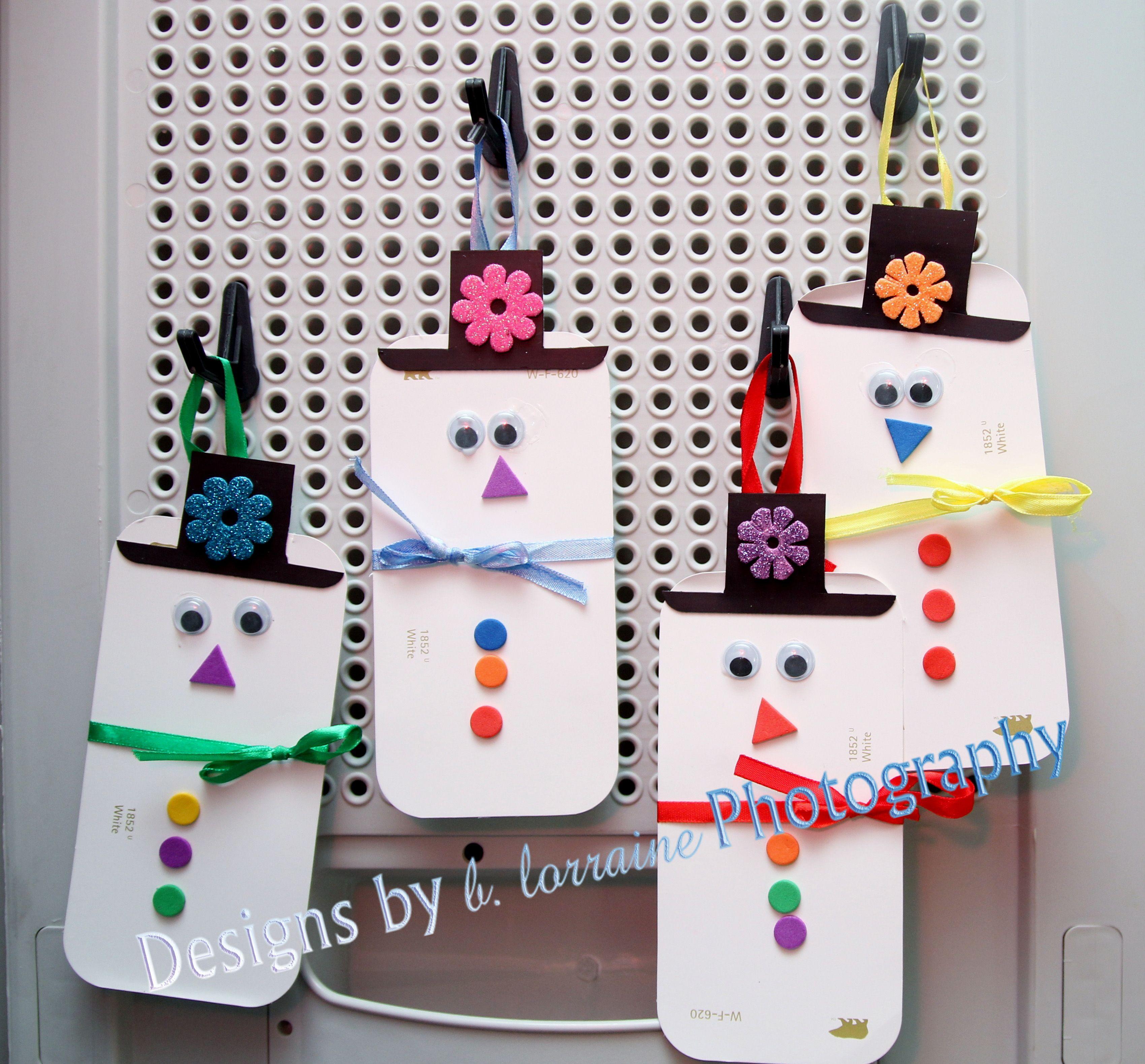 Miss B S Child Care Our Cute Little Paint Swatch Snowmen