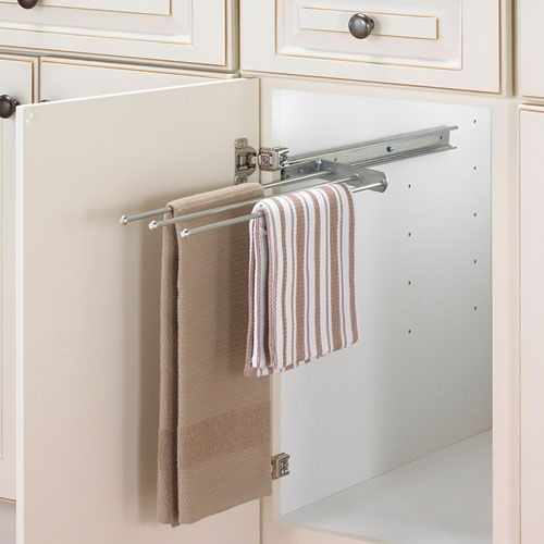 inside cabinet towel holder | ... Sink > Kitchen Towel Holders ...