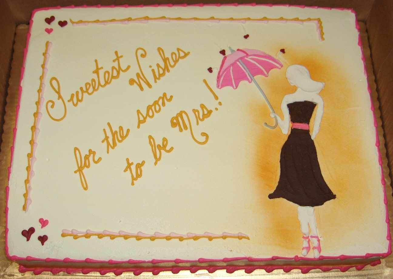 Easy Cake Decorating Ideas For Bridal Shower : Custom Bridal Shower Sheet Cake Cake Ideas Pinterest ...