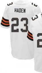 """$78.00--Joe Haden White Elite Jersey - Nike Stitched Cleveland Browns #23 Jeresey,Free Shipping! Buy it now:click on the picture, than click on """"visit aliexpress.com"""" In the new page."""