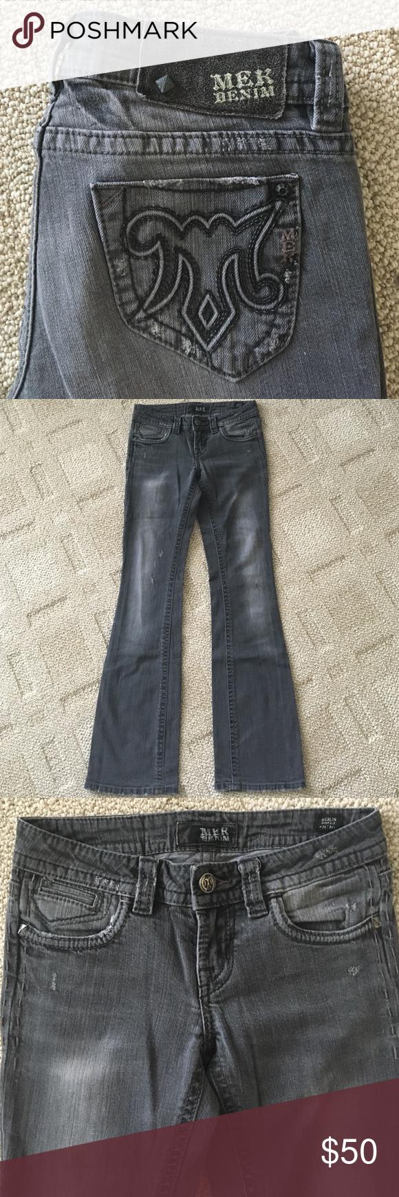 """MEK Denim Berlin Bootcut Jeans MEK Denim Berlin Bootcut Jeans. Excellent condition. Waist 26"""". Length 34"""". MEK Jeans Boot Cut"""