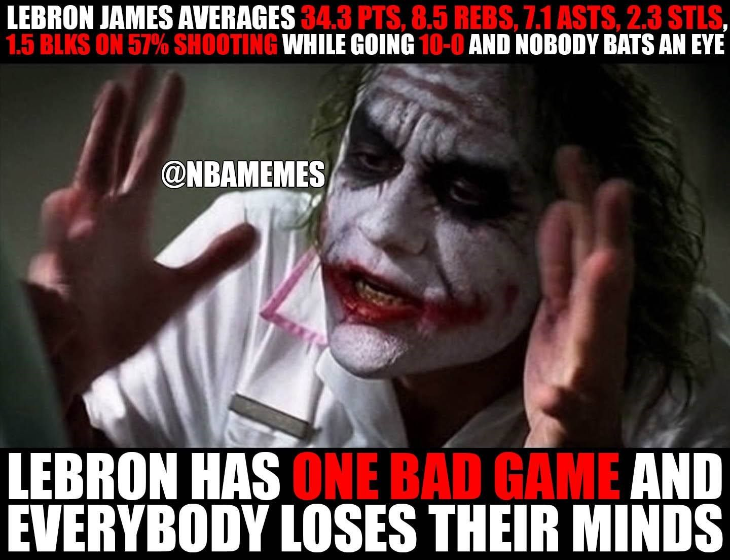 Funny Memes For Haters : Rt nbamemes sad logic of them haters cavsnation