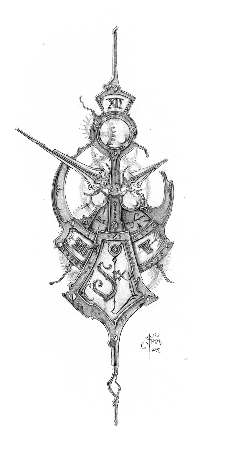 The Clockwork Of Eric Freitas Fine Horological Horticulture Steampunk Tattoo Design Steampunk Tattoo Clockwork Tattoo