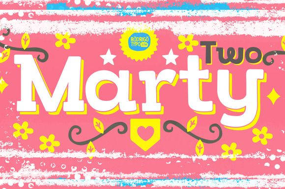 Download Marty Two (all pack)   Creative fonts, Creative market ...