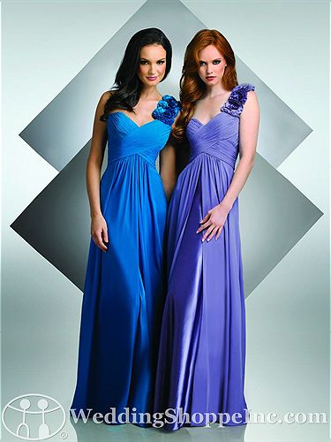 Purple And Blue Wedding At All Of The Bari Jay Bridesmaid Dresses