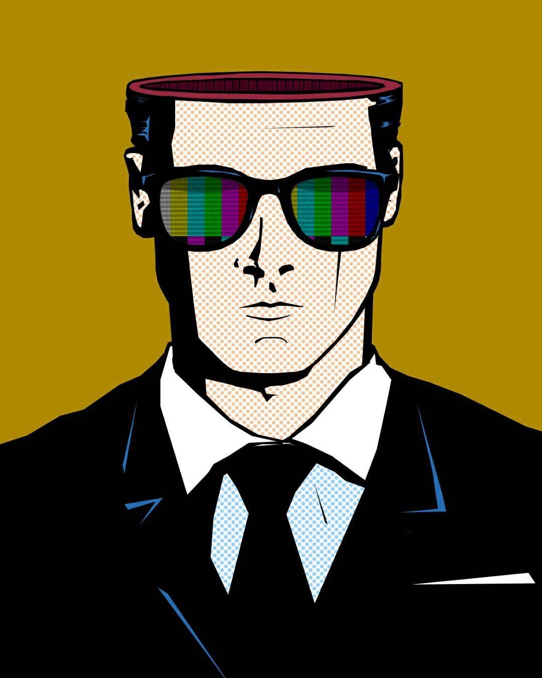 #art#artsy#artist#draw#drawing#pencil#color#colors#illustration#arte#artwork#black#blackandwhite#colour#creative#ink#myart#painting#paintings#paint#talentedpeopleinc#sqr16#sqr16art#propaganda#society#tv#brainless#sunglasses#suitandtie by squaresixteen