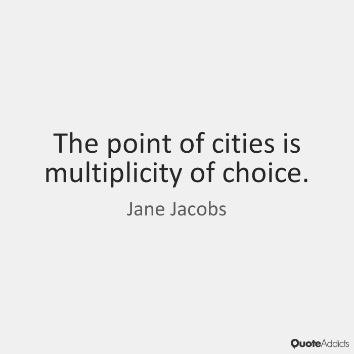 jane jacobs theory of development Economic development is not just expansion, jacobs writes it is, as she nicely puts it, ''differentiation emerging from generality,'' precisely the analogue of evolutionary or embryological development in nature.