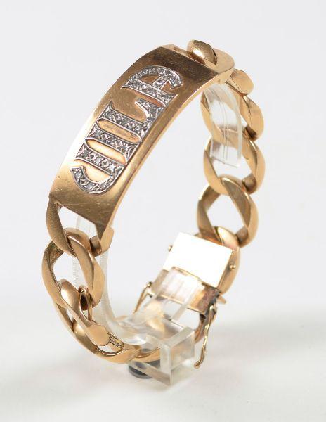 34d5a03baf1 Pulseira de ouro em 18 K da década de 50