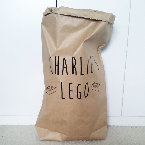 CUSTOM TOY BAG - White or Brown Strong Paper Storage Sack Bag ...