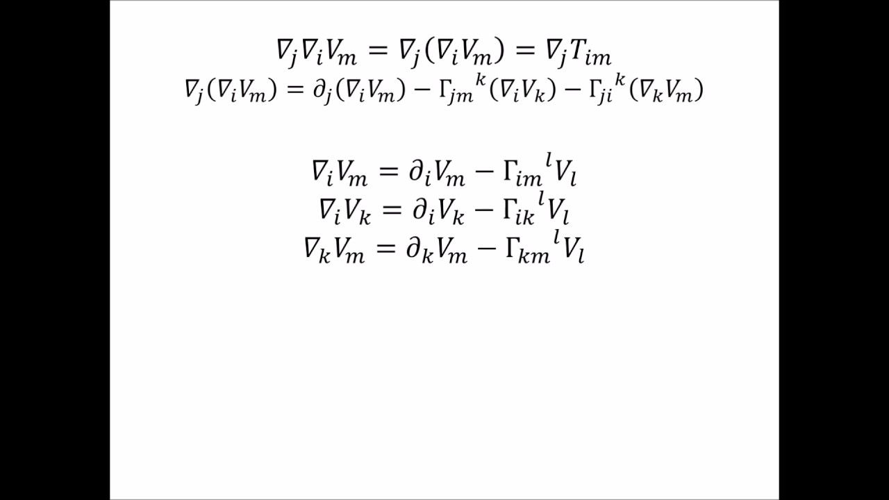 Derivation of the Riemannian Curvature Tensor - YouTube