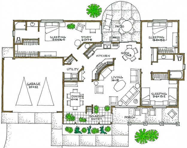 Marvelous House Plan 192 00029   Green Plan: 1,600 Square Feet, 3 Bedrooms, 2  Bathrooms
