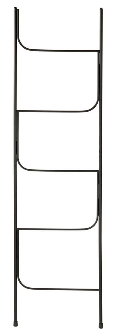 Ferra Echelle Noir H 161 5 X Larg 45 X P 1 6 Cm Meuble Etagere Mobilier De Salon Paravent