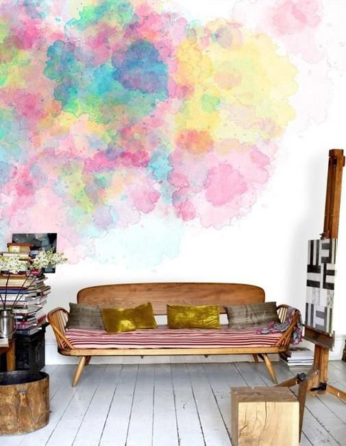 22 creative wall painting ideas and modern painting - Interior painting ideas pinterest ...