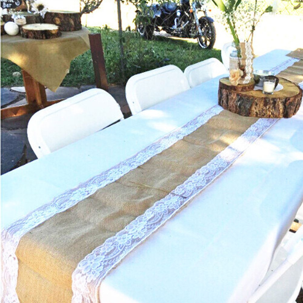 Click To Buy U003cu003c Burlap Table Runner Cloth Wedding Decoration Natural Jute  Linen
