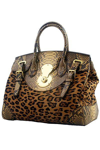 Ralph Lauren Handbag animal print  ce6e7b80d266d