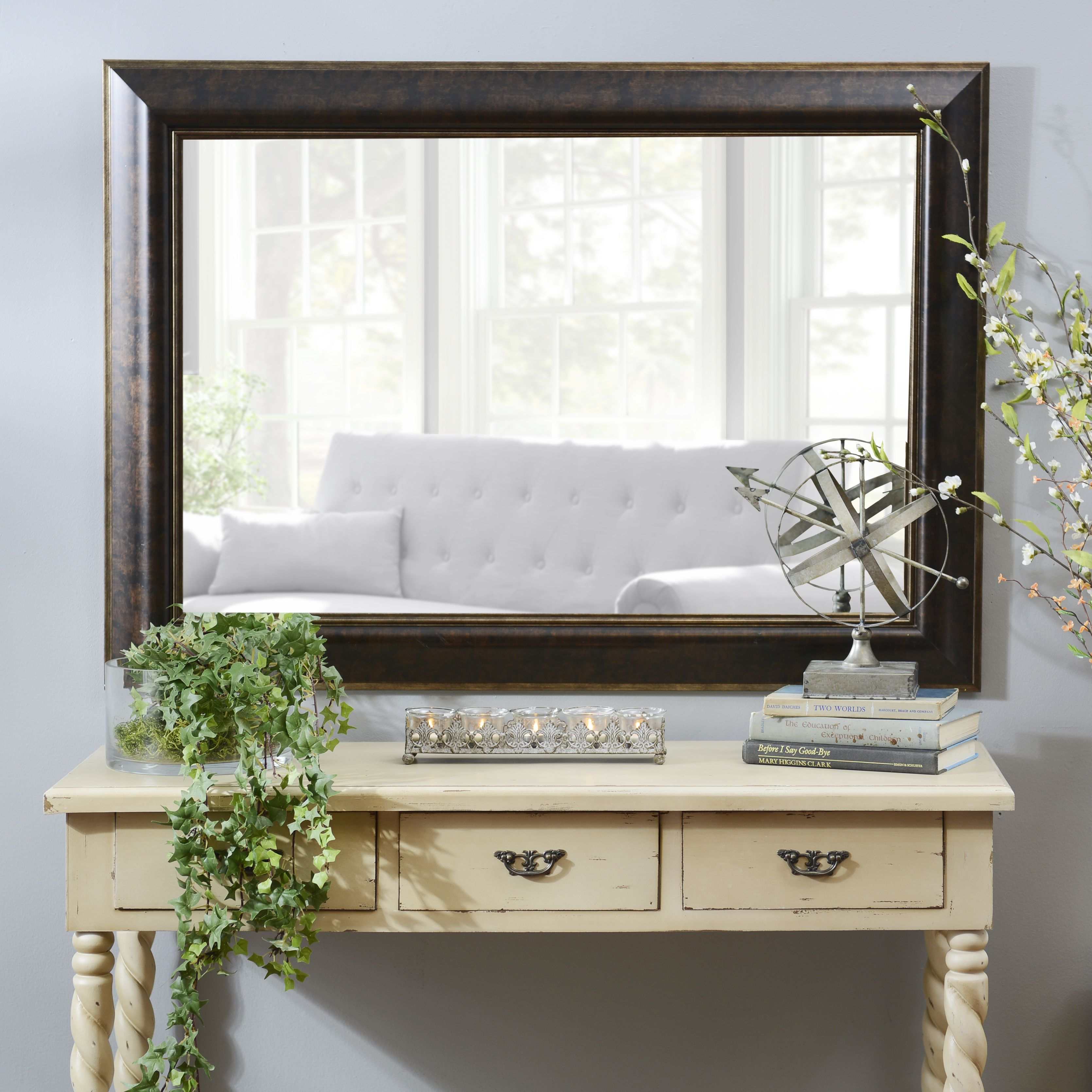 Bronze & Gold Framed Mirror, 32X44 In - Gold Framed