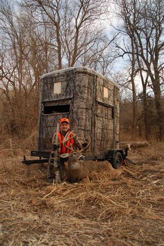 The gallery for homemade portable deer blinds for Deer ground blind plans