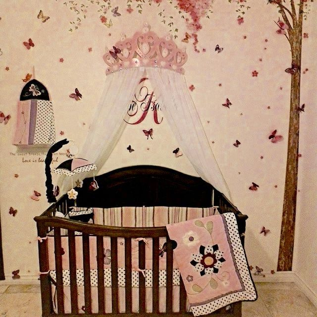 Crib Canopy Bed Crown Pink Princess Wall Decor & Crib Canopy Bed Crown Pink Princess Wall Decor | Canopy Crown ...