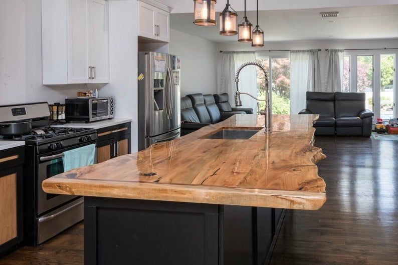 Sale Wood Table Live Edge Counter Various Species Available