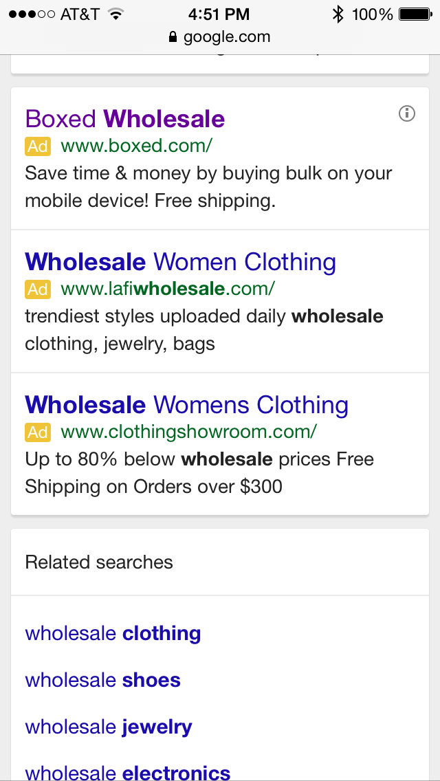 Mobile Touch Point Number 5 Seo Keyword Search In Resulting In A Top Hit Boxed Box Wholesale Boxed Womens Wholesale Clothing Seo Keywords Wholesale Boxes