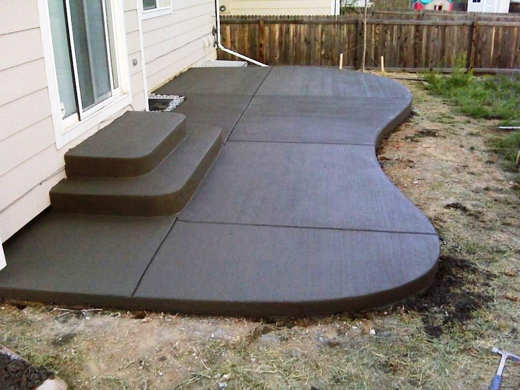 12 Some Of The Coolest Initiatives Of How To Makeover Backyard Landscape Ideas Poured Concrete Patio Concrete Patio Designs Concrete Patio