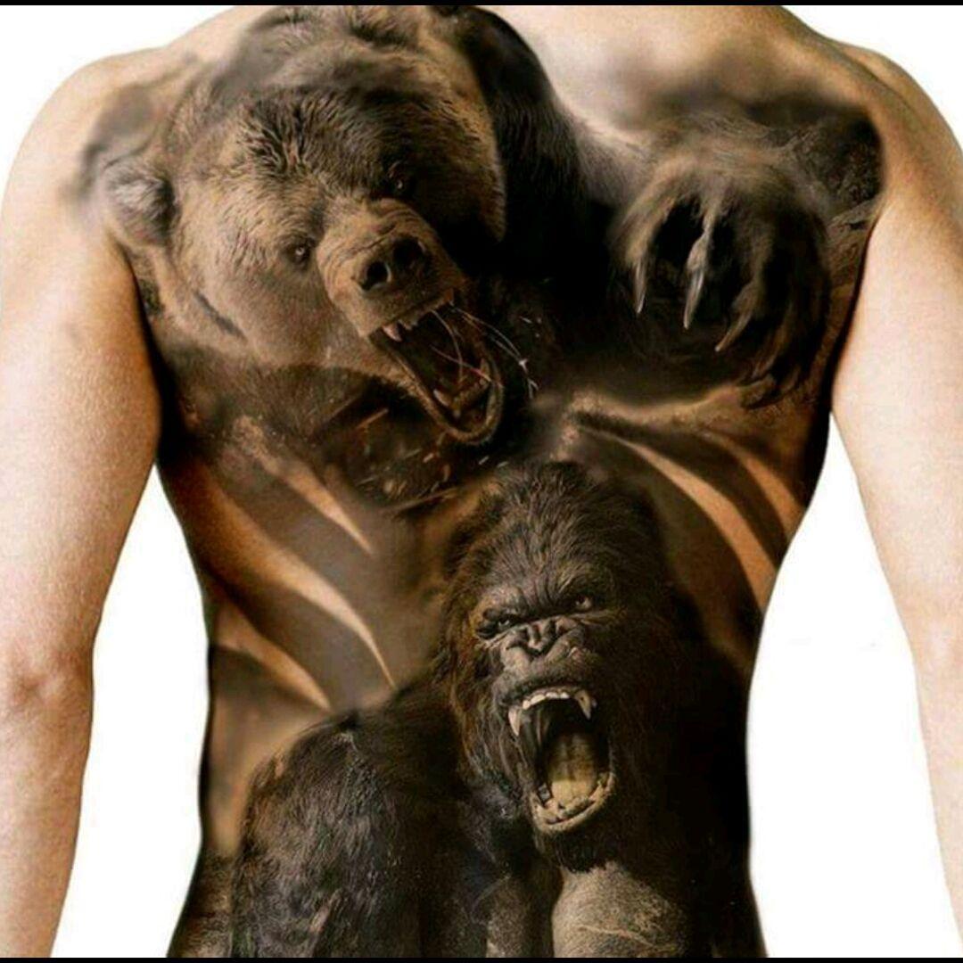 Blackwork Bear Gorilla Tatuajes De Osos Tatuajes De Animales