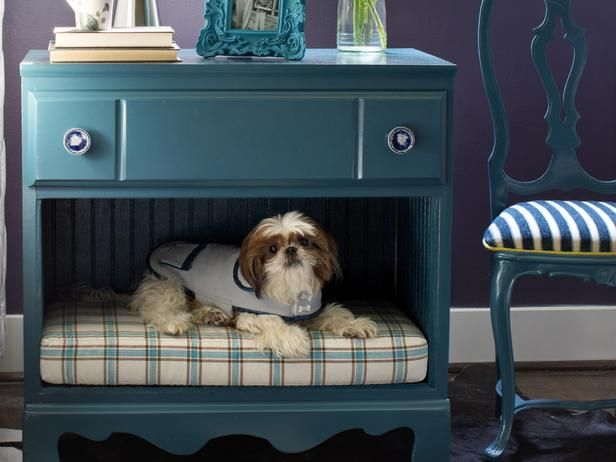 How To Turn A Dresser Into A Pet Bed And Nightstand Diy