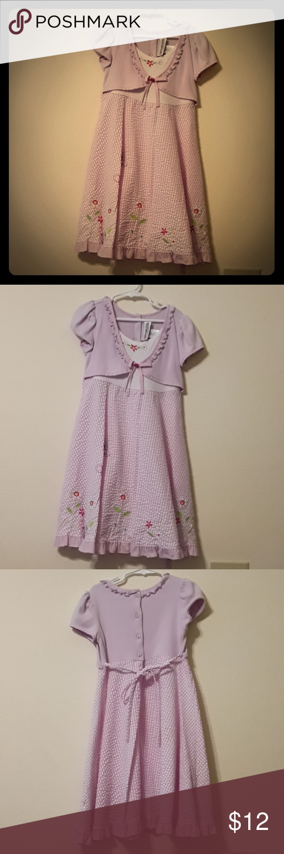 Youngland size 8 Youngland purple with flowers seersucker material size 8. Youngland Dresses Casual