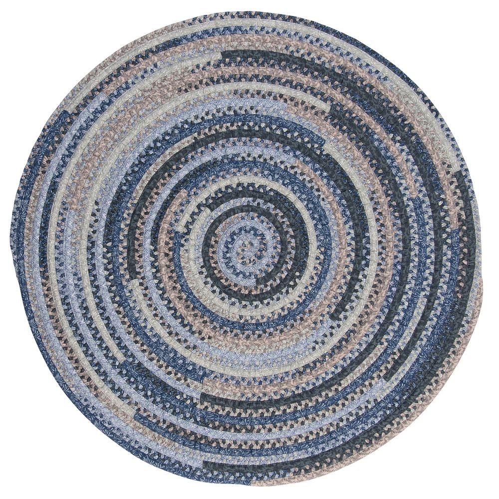 Home Decorators Collection Monica Denim Wash 12 Ft X 12 Ft Round Braided Area Rug Rugs Braided Area Rugs Colorful Rugs