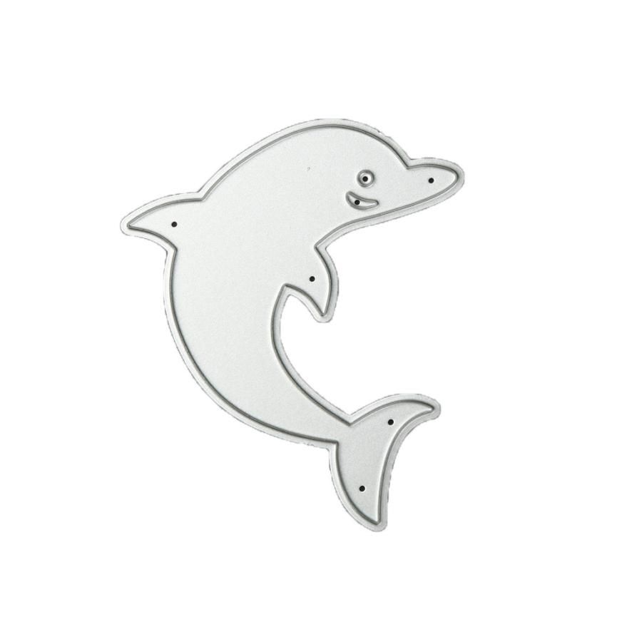 1pc Dolphin Metal Cutting Dies Stencil for DIY Scrapbooking Album Cards MakingBS