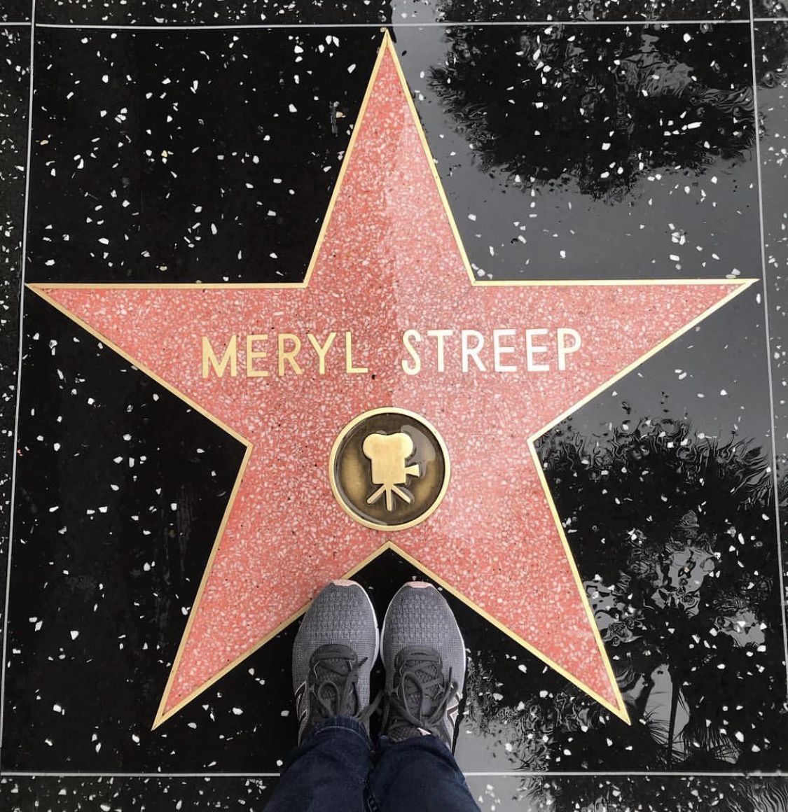 2226 Looking Down Meryl Streep S Star On The Hollywood Walk Of Fame Meryl Streep Hollywood Walk Of Fame Walk Of Fame
